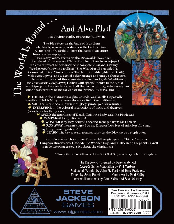Discworld Roleplaying Game (Back)