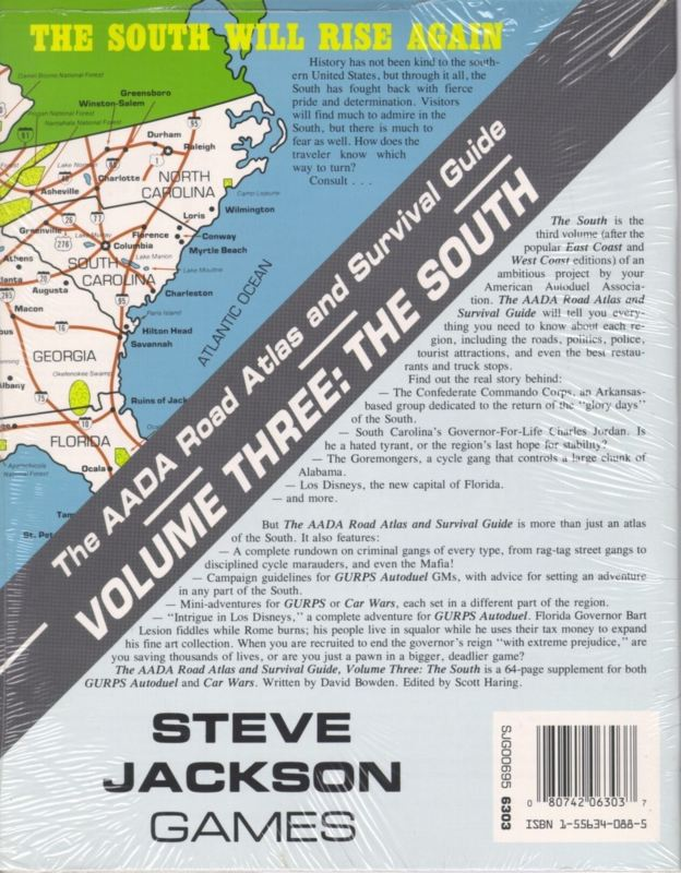 The AADA Road Atlas and Survival Guide, Volume Three: The South (Back)