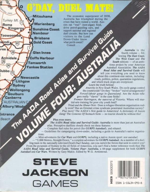 The AADA Road Atlas and Survival Guide, Volume Four: Australia (Back)