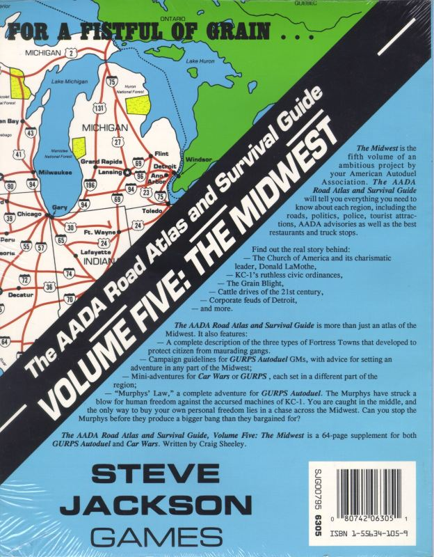 The AADA Road Atlas and Survival Guide, Volume Five: The Midwest (Back)