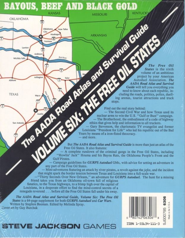 The AADA Road Atlas and Survival Guide, Volume Six: The Free Oil States (Back)