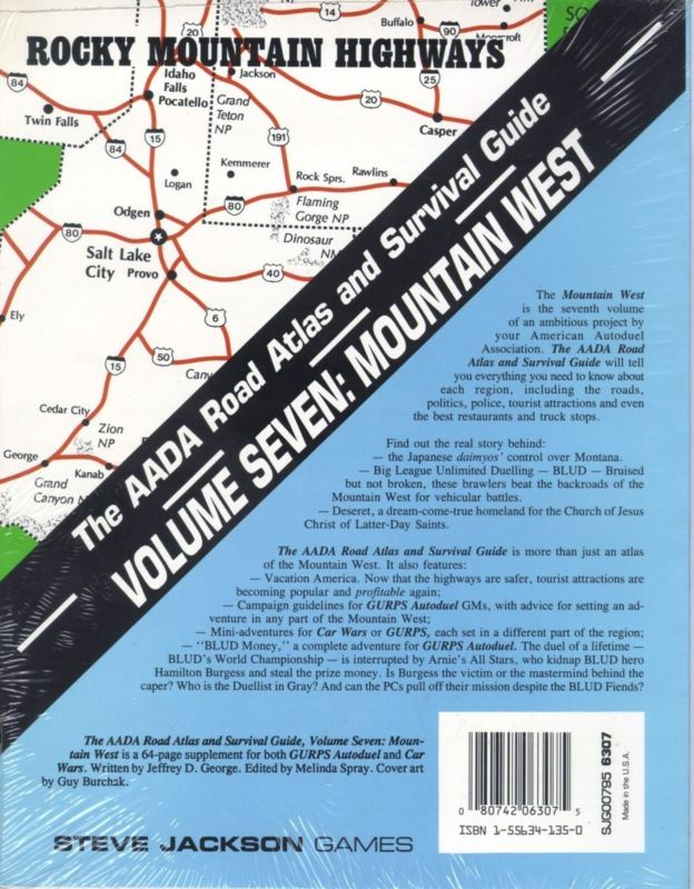 The AADA Road Atlas and Survival Guide, Volume Seven: Mountain West (Back)