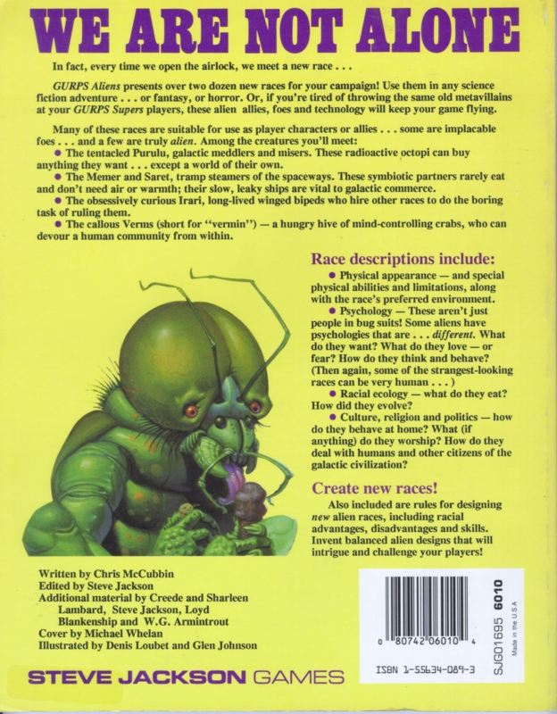 GURPS Aliens (Back)