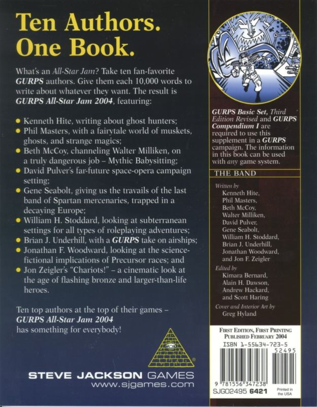 GURPS All-Star Jam 2004 (Back)