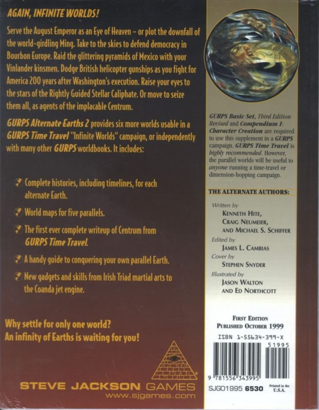 GURPS Alternate Earths 2 (Back)