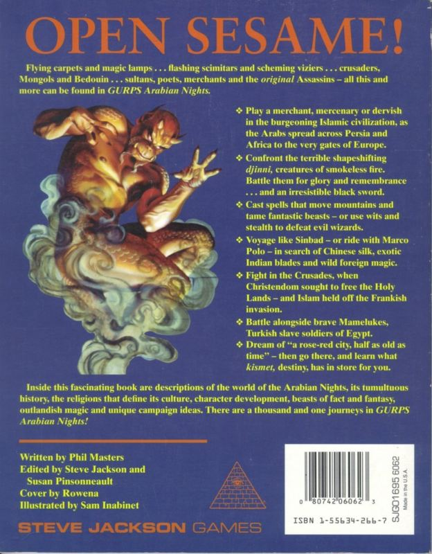 GURPS Arabian Nights (Back)