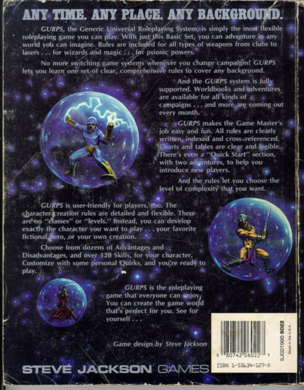 GURPS Basic Set, Third Edition (Back)