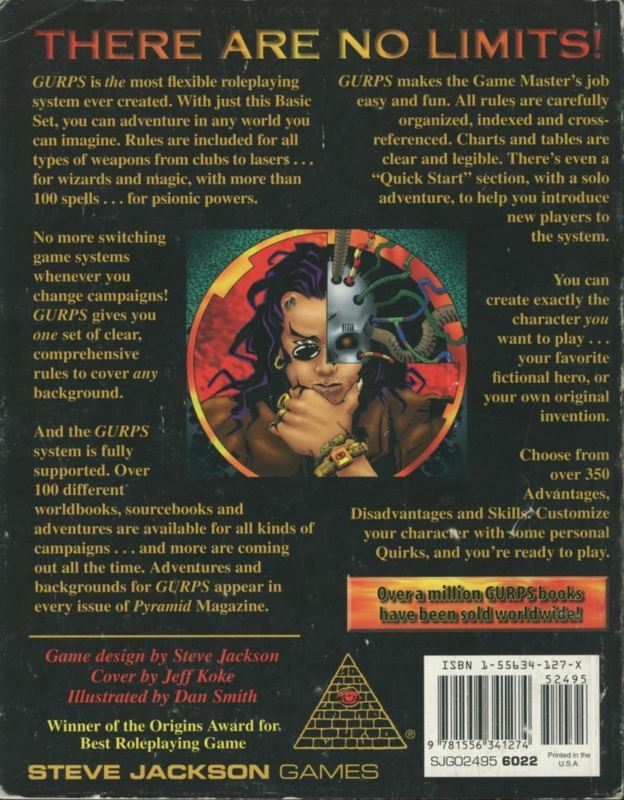 GURPS Basic Set, Third Edition Revised (Back)