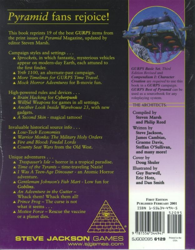 GURPS Best of Pyramid Volume 1 (Back)
