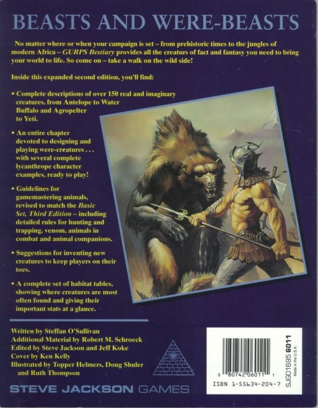 GURPS Bestiary, Second Edition (Back)