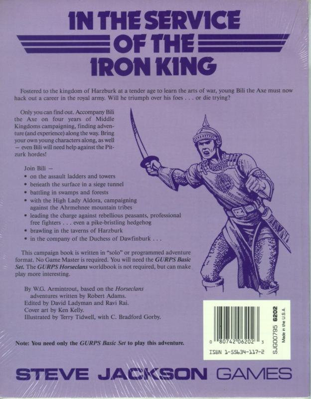 GURPS Bili the Axe: Up Harzburk (Back)