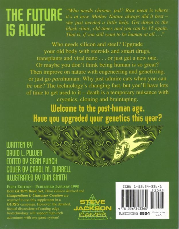 GURPS Bio-Tech (Back)