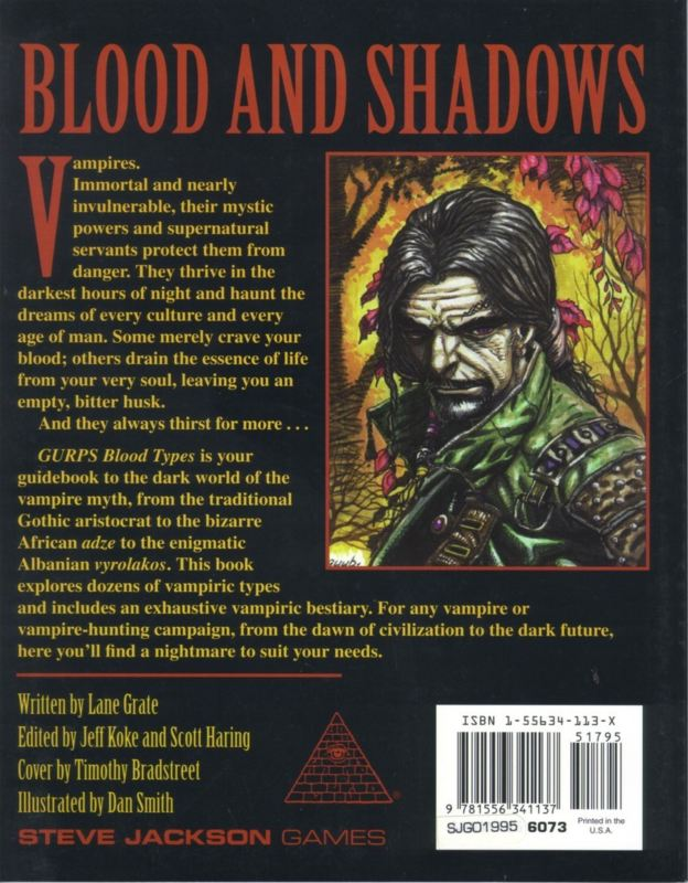 GURPS Blood Types (Back)