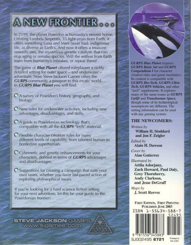 GURPS Blue Planet (Back)