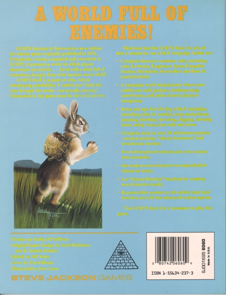 GURPS Bunnies & Burrows (Back)