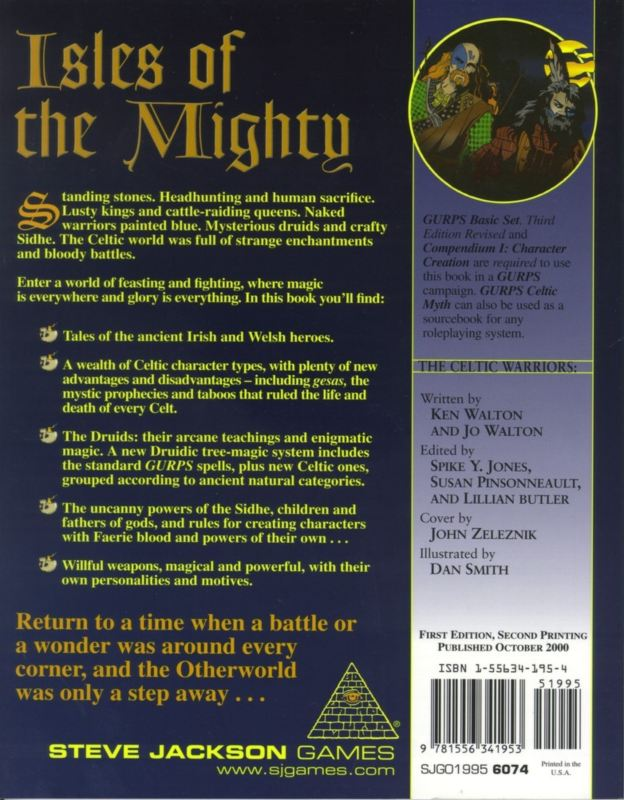 GURPS Celtic Myth (Back)