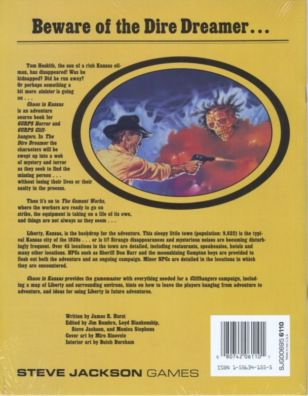 GURPS Chaos in Kansas (Back)