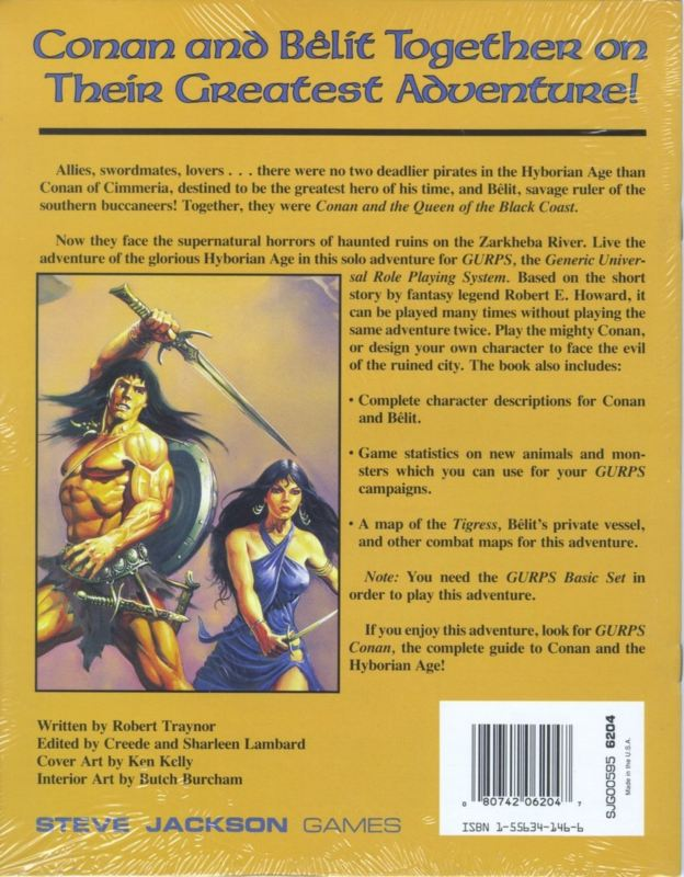 GURPS Conan and the Queen of the Black Coast (Back)