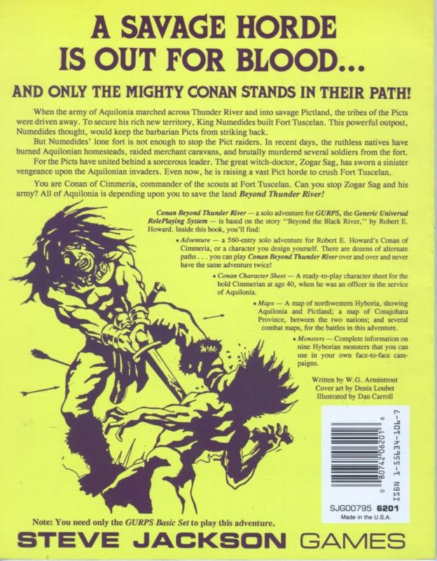 GURPS Conan Beyond Thunder River (Back)