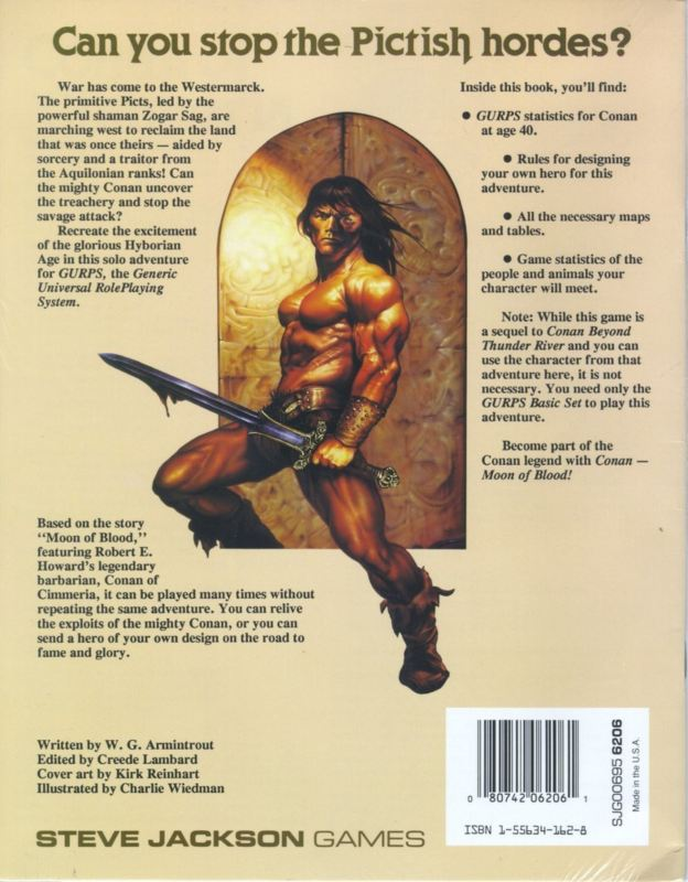GURPS Conan: Moon of Blood (Back)