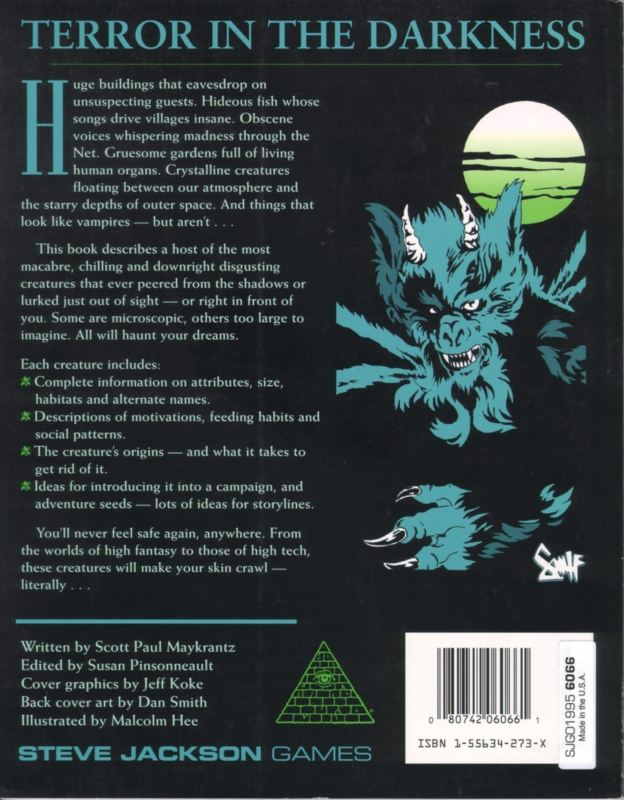 GURPS Creatures of the Night (Back)