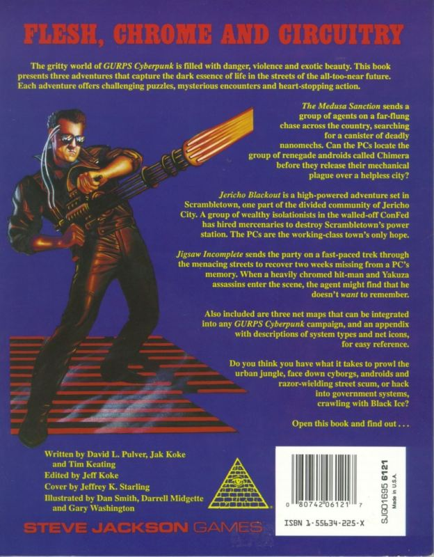 GURPS Cyberpunk Adventures (Back)