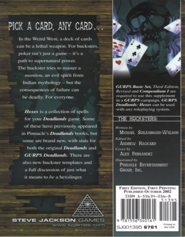 GURPS Deadlands: Hexes (Back)