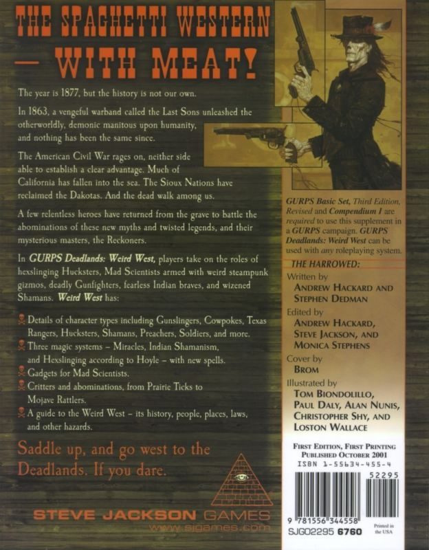 GURPS Deadlands: Weird West (Back)