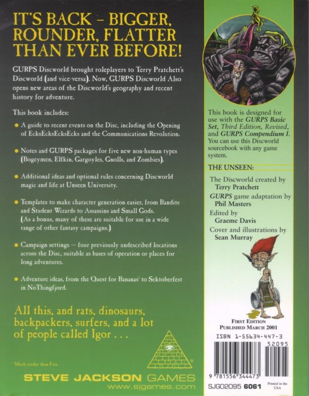 GURPS Discworld Also (Back)