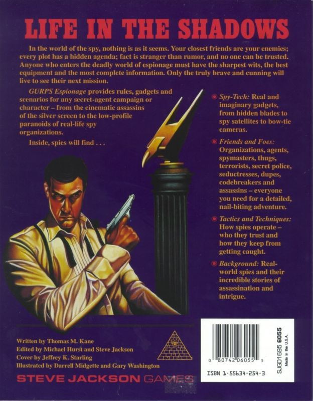 GURPS Espionage (Back)