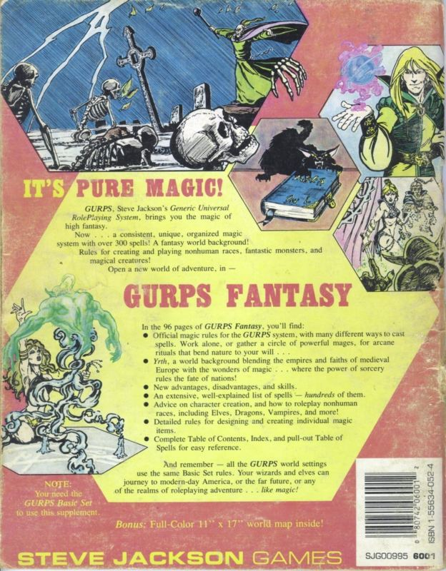 GURPS Fantasy, First Edition (Back)
