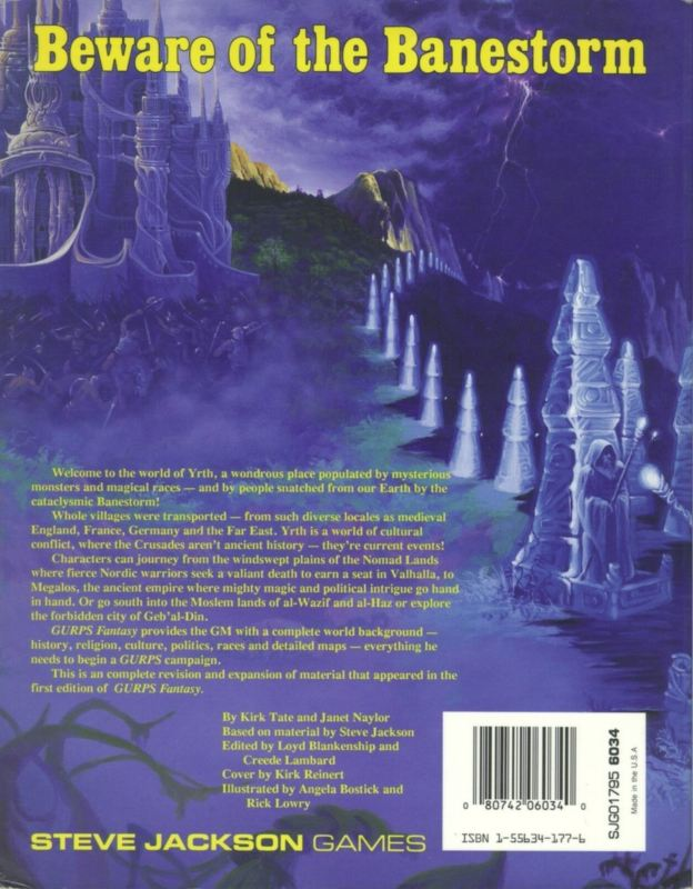 GURPS Fantasy, Second Edition (Back)