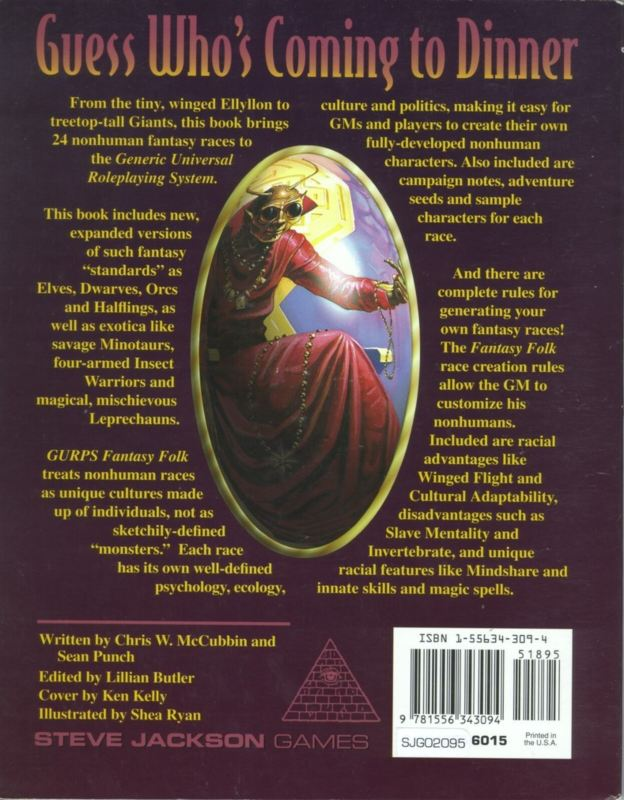 GURPS Fantasy Folk, Second Edition (Back)
