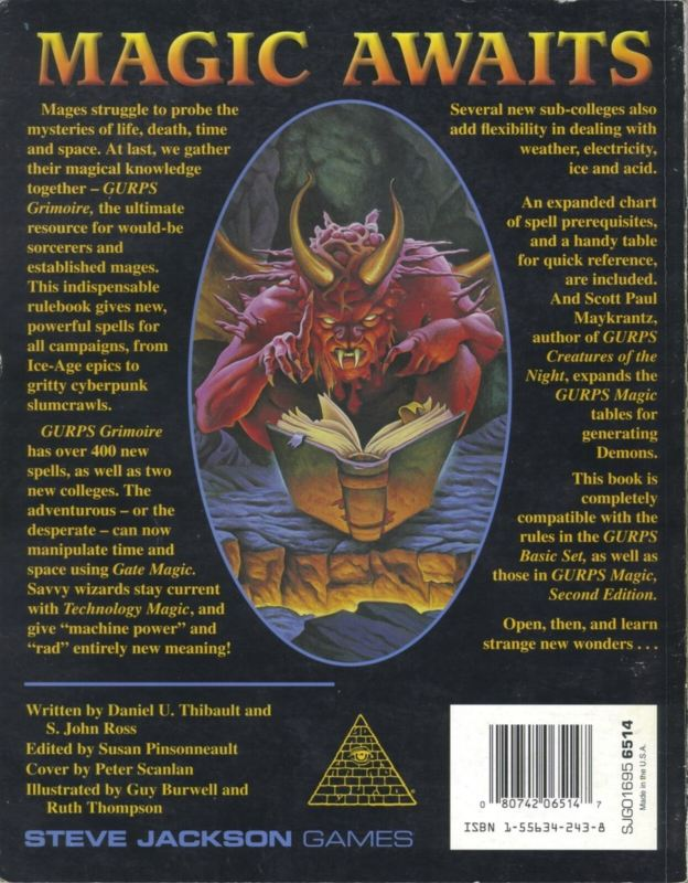 GURPS Grimoire (Back)