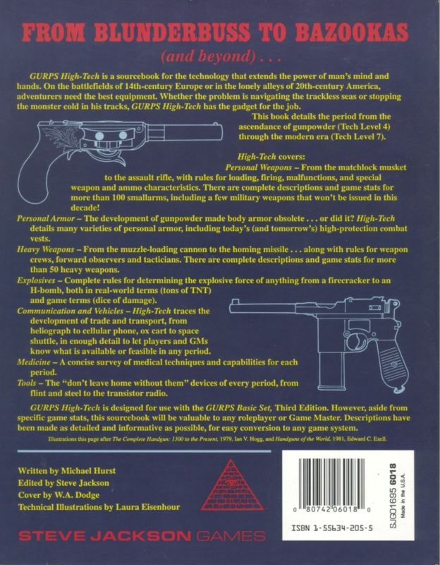 GURPS High-Tech, Second Edition (Back)