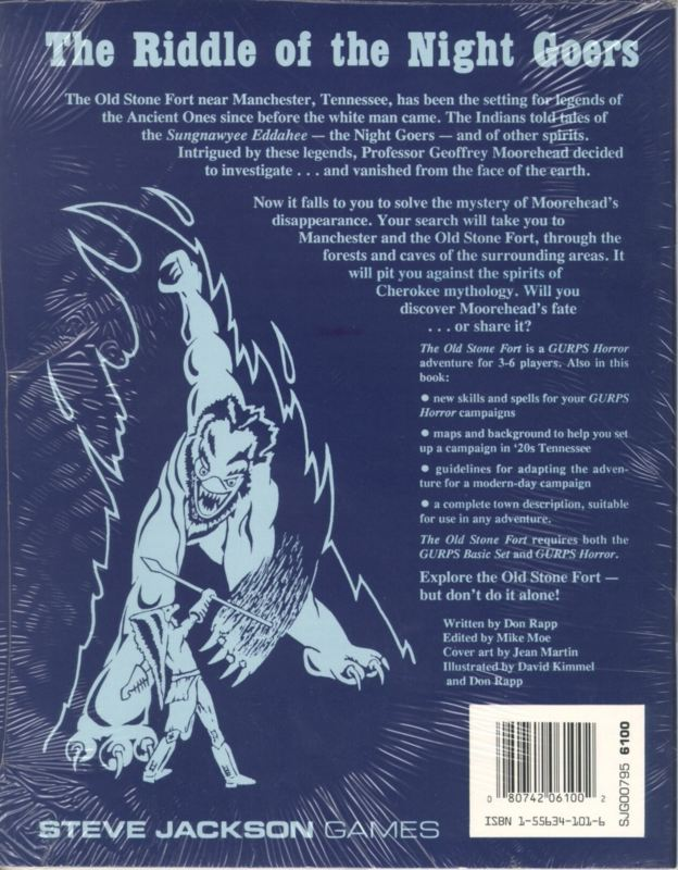 GURPS Horror The Old Stone Fort (Back)