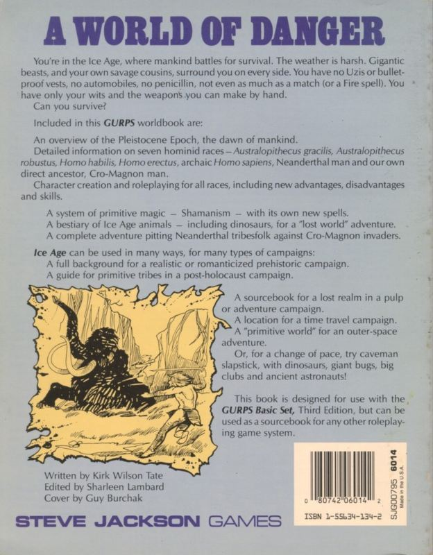 GURPS Ice Age (Back)