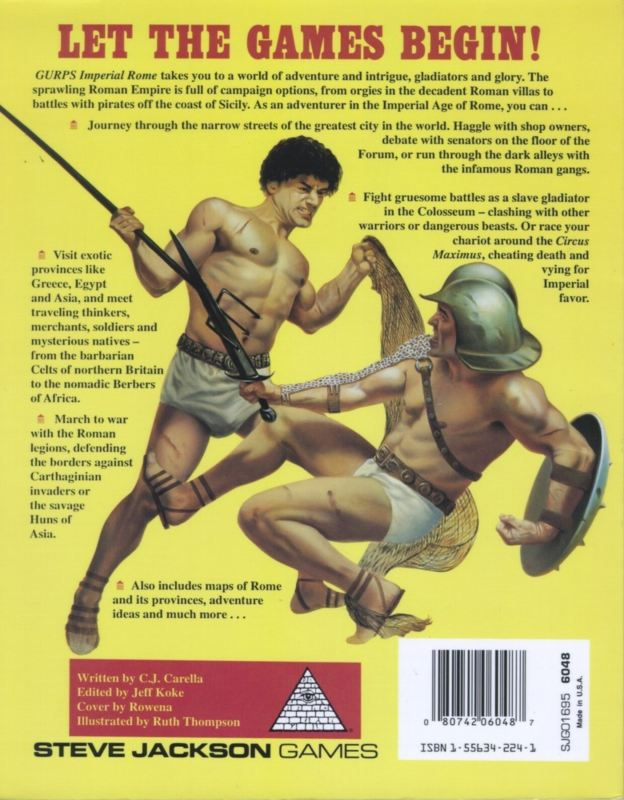 GURPS Imperial Rome, First Edition (Back)