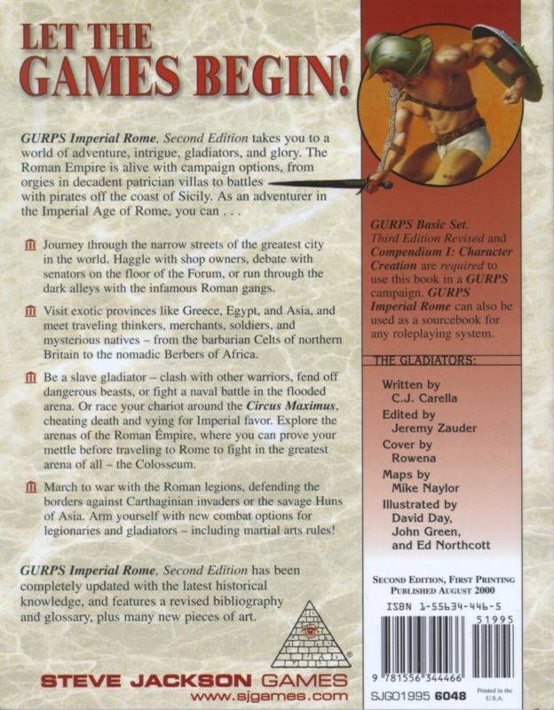 GURPS Imperial Rome, Second Edition (Back)