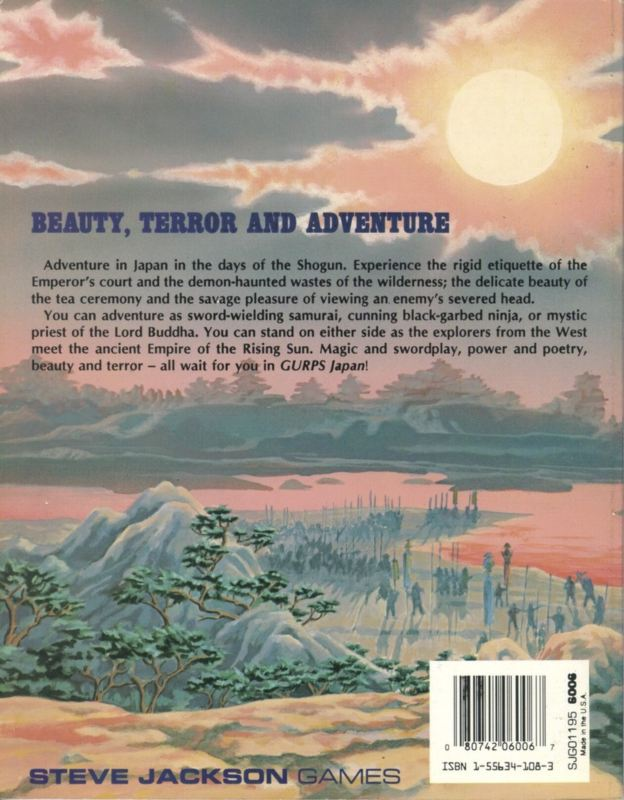 GURPS Japan, First Edition (Back)