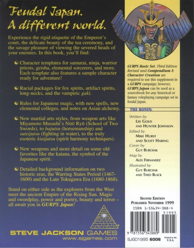 GURPS Japan, Second Edition (Back)