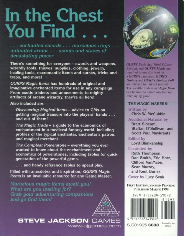 GURPS Magic Items 1 (Back)