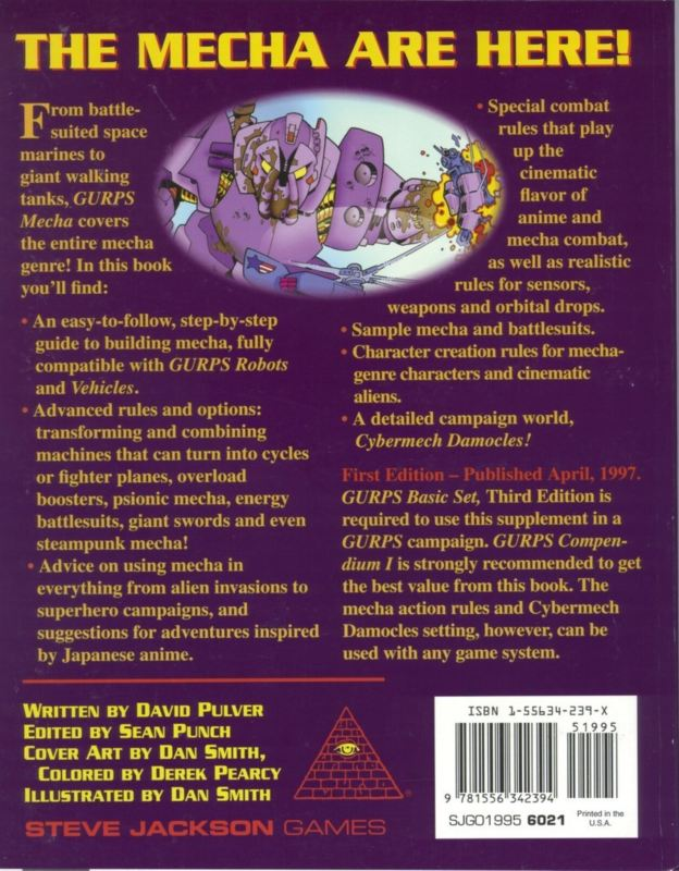 GURPS Mecha (Back)