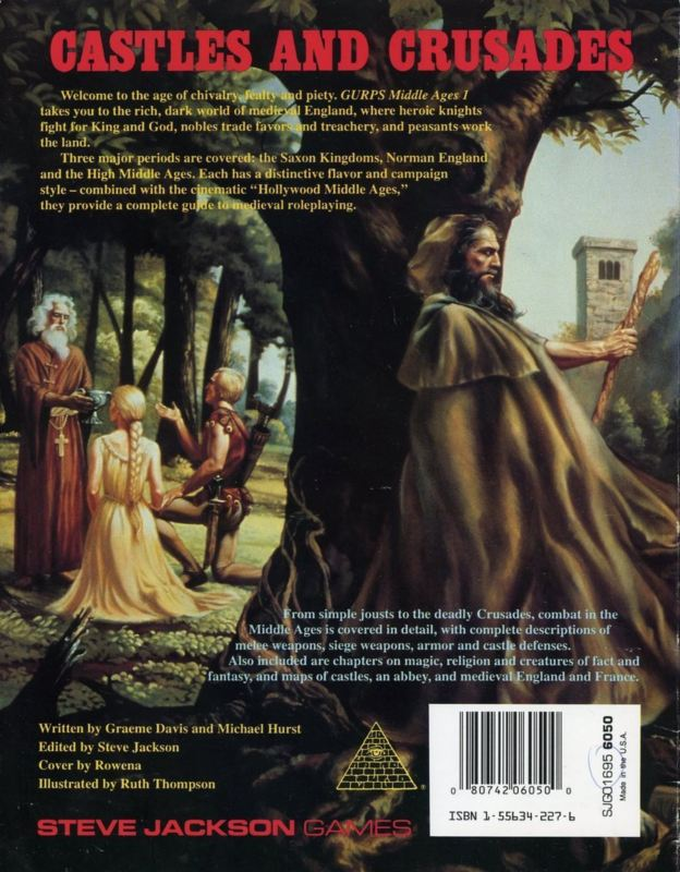 GURPS Middle Ages 1, First Edition (Back)