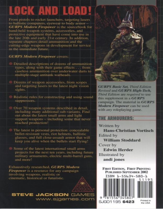 GURPS Modern Firepower (Back)