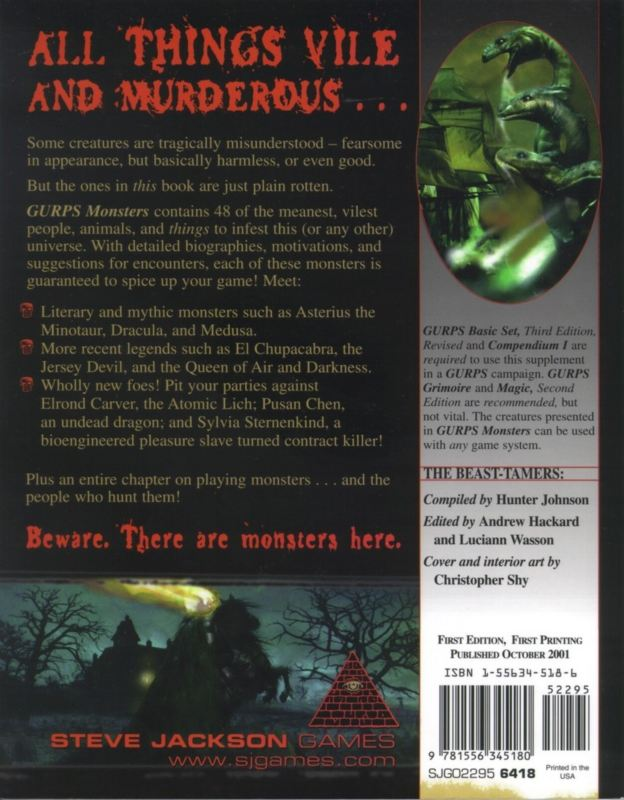 GURPS Monsters (Back)