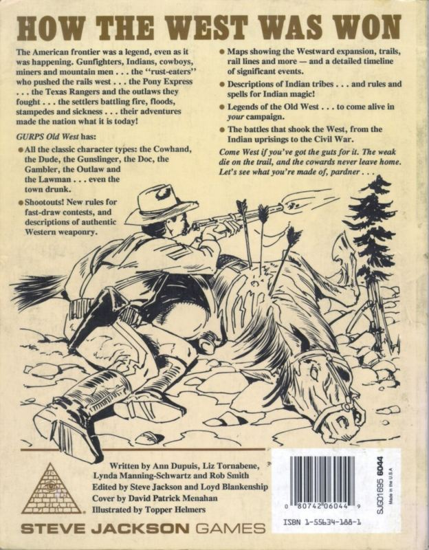 GURPS Old West (Back)
