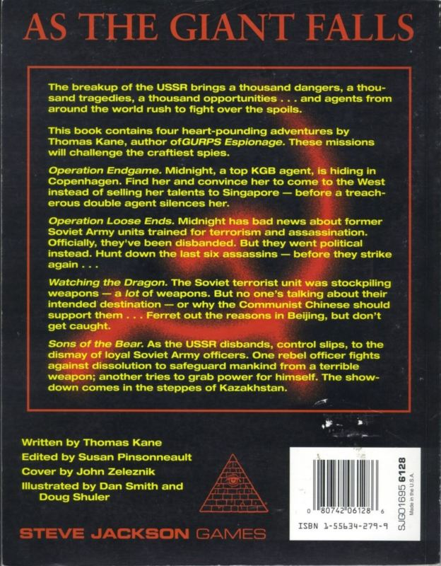 GURPS Operation Endgame (Back)