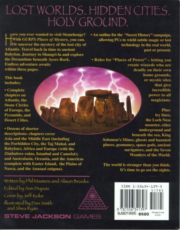 GURPS Places of Mystery (Back)