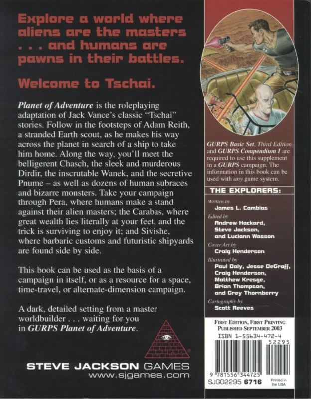 GURPS Planet of Adventure (Back)